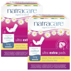 Review Natracare Ultra Extra Pads With Organic Cotton Cover Long With Wings 8Pcs X 2 Twin Pack Natracare On Singapore