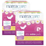 For Sale Natracare Ultra Extra Pads With Organic Cotton Cover Super With Wings 10Pcs X 2 Twin Pack