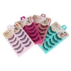 Natural Cross Eye Lashes Extension Beauty Makeup Long False Eyelashes Soft - Intl By Mingrui.