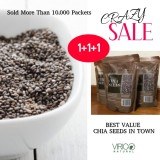 Review Natural Grown Black Chia Seeds 1 5 Kg Best Value 1 1 1 Packets Singapore