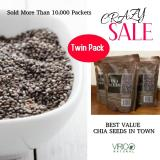 Brand New Natural Grown Black Chia Seeds By Virico Natural Twin Packs 1 Kg 1 1