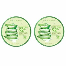 Brand New Nature Republic Soothing Moisture Aloe Vera 92 Soothing Gel 300Ml 2Pcs Intl