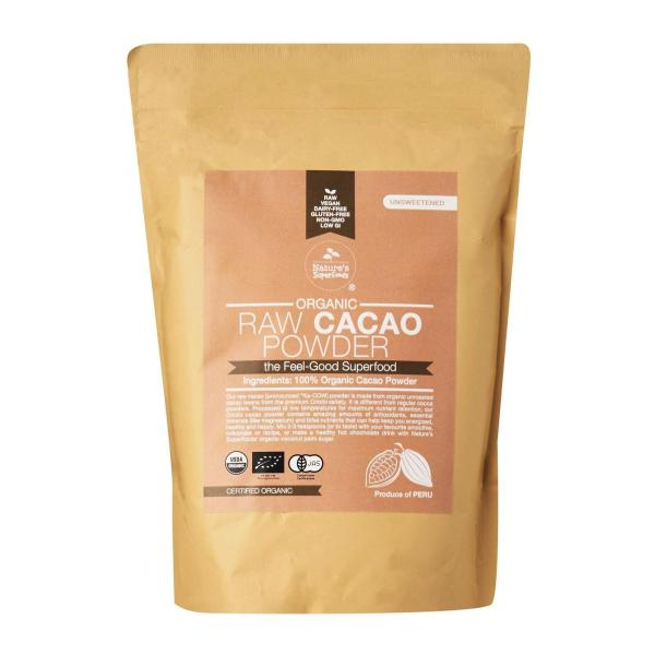 Buy Natures Superfoods Organic Raw Cacao Powder 500g Singapore