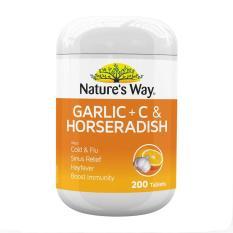 Review Nature S Way Garlic C Horseradish 200 Tablets Singapore