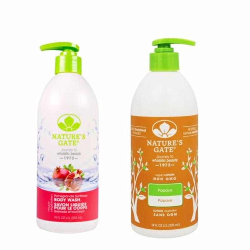 Buy Natures Gate Pomegranate Sunflower Body Wash and Papaya Body Wash 532ml Singapore