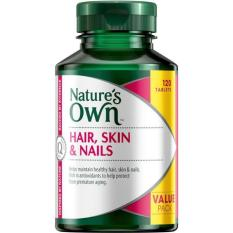 Nature S Own Hair Skin Nails 120 Tablets Healthy Hair Skin And Nail Supplement Anti Aging Coupon Code