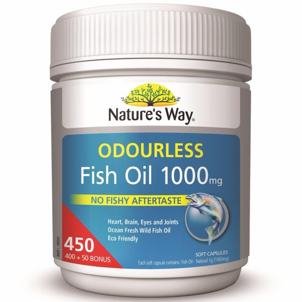 Buy Natures Way Fish Oil Odourless 1000mg 450 Capsules June 2022 Singapore