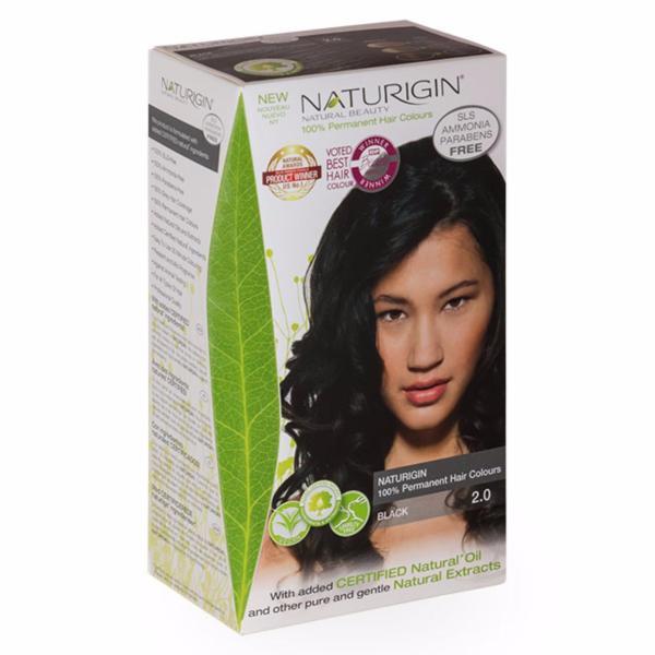 Buy NATURIGIN (2.0 BLACK) 100% Permanent Organic Hair Colour Singapore