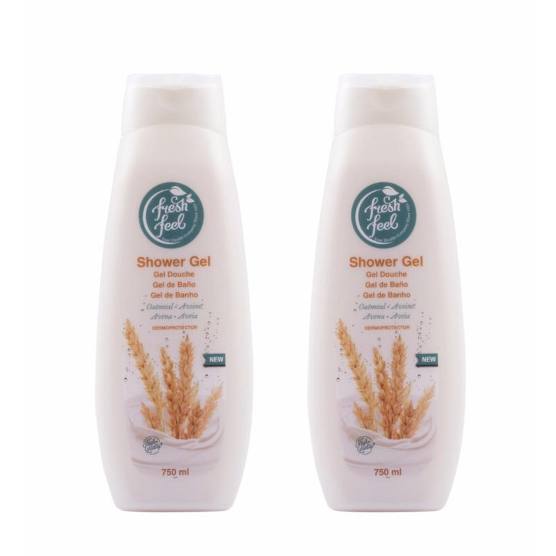Buy NELLY FRESH FEEL SHOWER GEL OATMEAL 750ML x2 Qty Singapore