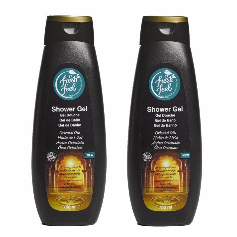 Buy NELLY FRESH FEEL SHOWER GEL ORIENTAL OIL 750ML x2 Qty Singapore