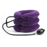 Get The Best Price For New High Quality Full Velvet Cervical Collar Household Medical Inflatable Neck Traction Device Cervical Vertebra Traction Curing Neck Pain Purple Intl