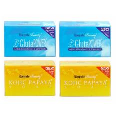 Latest Royale L Gluta Power Whitening Soap With Locorice And Kojic Papaya Soap With Orange Scent Value Pack New Improved