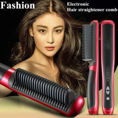 Top 10 Video In Pictures Newest Hot 39W Electronic Hair Straightener Ceramic Ionic Flat Instant Magic Comb Hair Brush