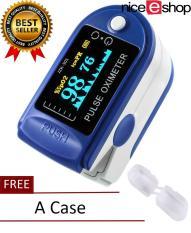 niceEshop Finger Pulse Oximeter Finger Oxygen Meter With Pulse Rate Monitor, Blue