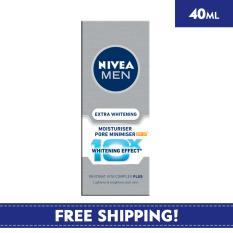 Top Rated Nivea Face Care For Men Moisturiser Extra Whitening Pore Minimiser Moisturiser 40Ml