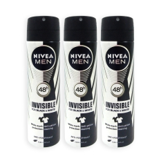Buy Pack Of 3 Nivea Men Invisible For Black And White Deodorant Spray 150Ml 6483 Nivea
