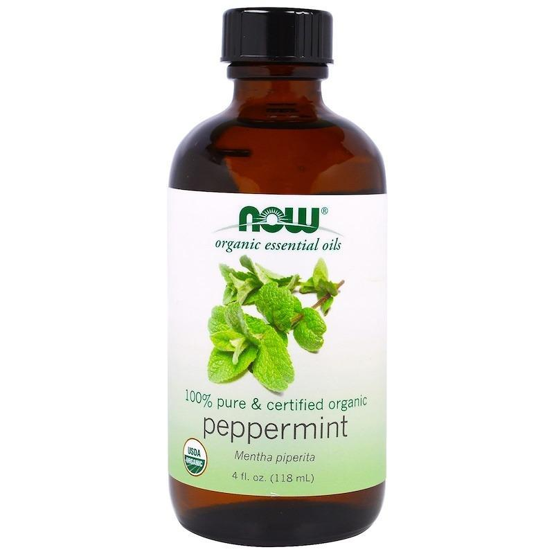 Buy Now Foods, Organic Essential Oils, Peppermint, 4 fl oz (118 ml) Singapore