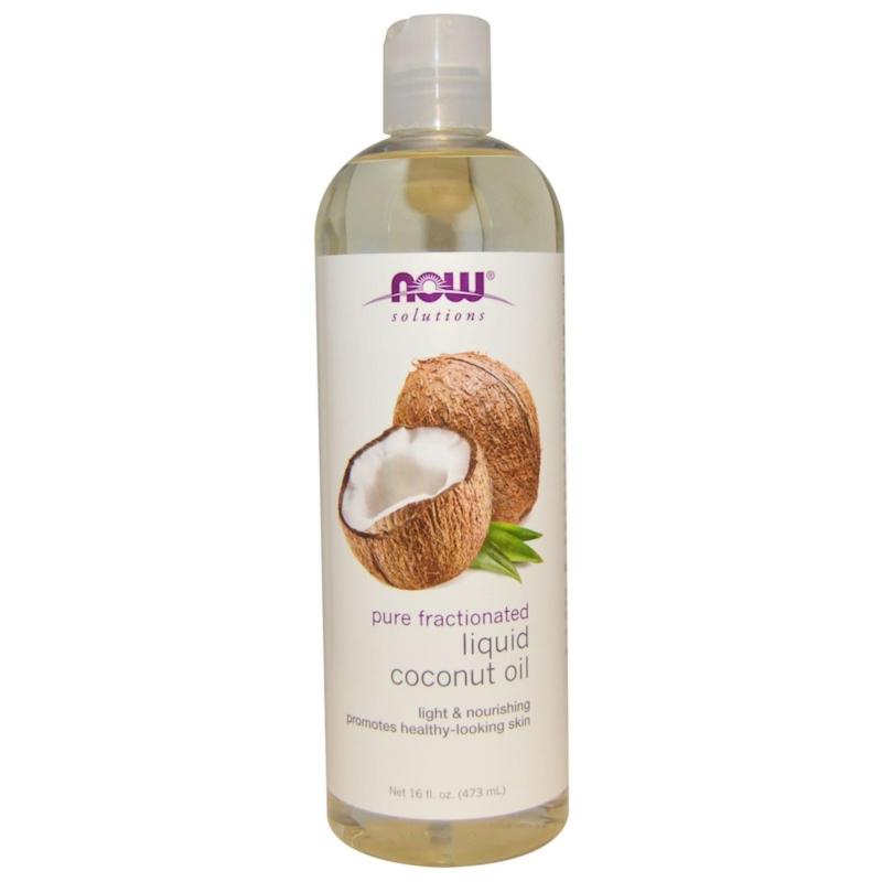 Buy Now Foods, Solutions, Liquid Coconut Oil, Pure Fractionated, 16 fl oz (473 ml) Singapore