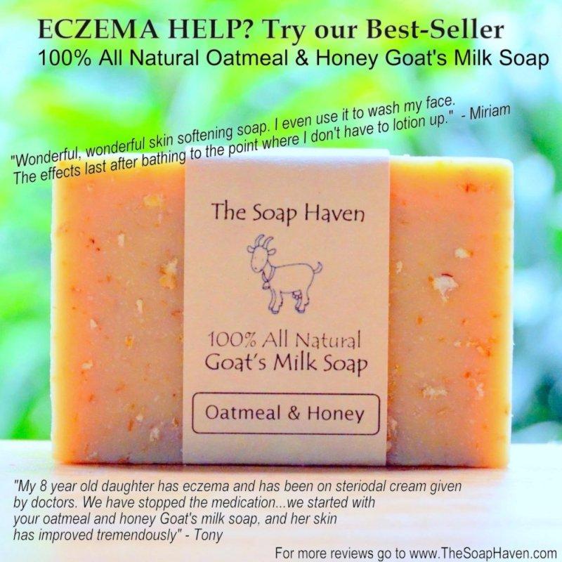 Buy The Soap Haven Oatmeal Honey Goat Milk Soap (#1 Best Seller for Eczema Treatment ) Singapore