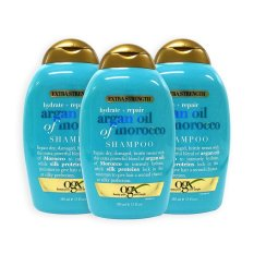 Deals For Pack Of 3 Ogx Organix Extra Strength Hydrate Repair Argan Oil Of Morocco Shampoo 385Ml 0104