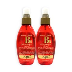 Compare Pack Of 2 Ogx Organix Moisture Vitamin B5 Weightless Oil Mist 118Ml 0326