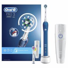 Oral B Pro 3 3000 Cross Action Electric Rechargeable Toothbrush With Travel Case By Funky Creations.