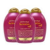 Best Rated Pack Of 3 Ogx Organix Anti Breakage Keratin Oil Shampoo 385Ml 7515