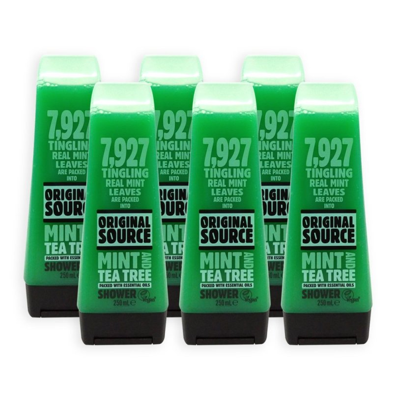 Buy (Pack of 6) ORIGINAL SOURCE Mint And Tea Tree Shower Gel with Essential Oils 250ml - 6474 Singapore