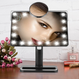 Price Ovonni 10X Magnifier Led Touch Screen Makeup Mirror Adjustable Vanity Tabletop Countertop(Black) Online China