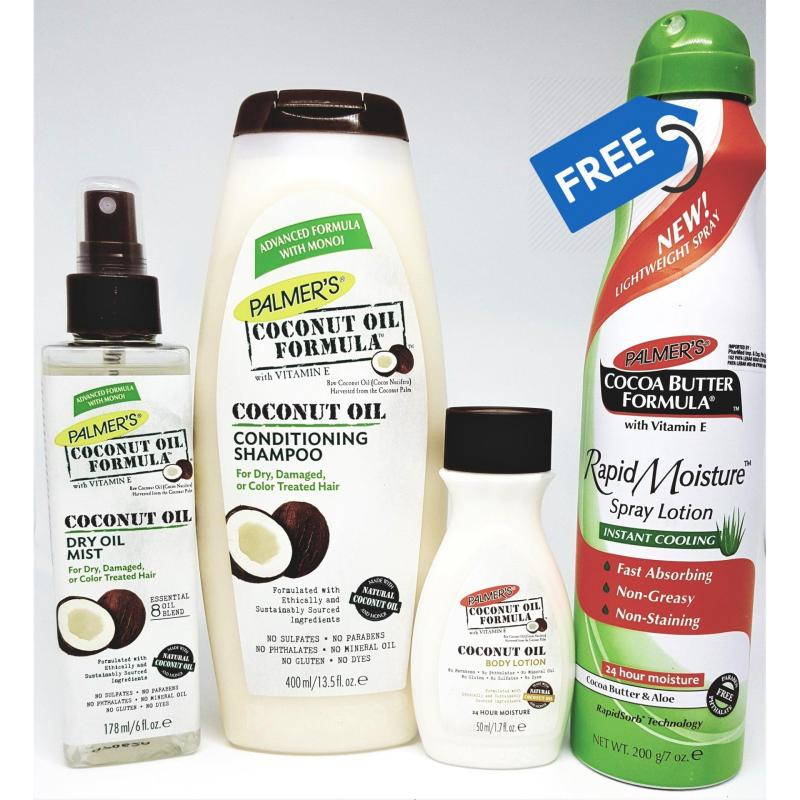 Buy Palmer's Coconut Hair & Body Deluxe Bundle Pack (FREE Cocoa Butter Aloe Spray) Singapore