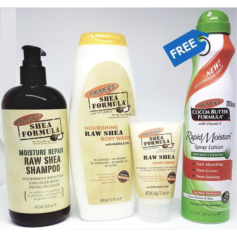 Buy Palmer's Raw Shea Goodness Bundle Pack (FREE Cocoa Butter Aloe Spray) Singapore