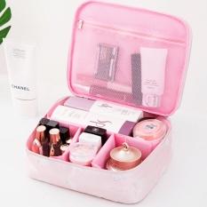Portable Toiletry Cosmetic Bag Waterproof Makeup Make Up Wash Organizer Storage Pouch Travel Kit Handbag Pink Style B Intl Free Shipping