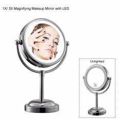 Who Sells The Cheapest Professional 6 Inch Makeup Mirror With Led Light Compact Cosmetic Mirror Lady S 3X Double Sided Magnifying Espelho Bath Mirror Intl Online