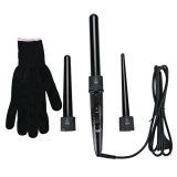 Buy Professional Curling Wand Interchangeable 3 Parts Clip Iron Hair Curler Set Black Intl
