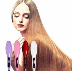 Review Professional Electric Fast Straightening Irons Comb With Lcd Display Straight Hair Styling Tool Purple Intl China