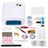 Get Cheap Professional Nail Art Manicure Kits Decoration 36W Lamp Uv Geltoolbrush Remover Nail Tips Glue Acrylic Kits Diy Set Intl