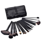 Best Rated Promotion Hot Professional 24 Pcs Makeup Brush Set Tools Make Up Toiletry Kit With Case Black Intl