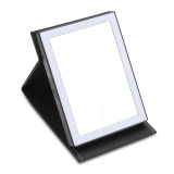 Buy Pu Leather Led Light Touch Screen Folding Makeup Mirror Black Intl Cheap On China