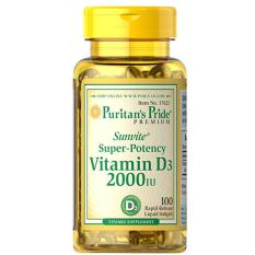 Compare Prices For Puritan Pride Vitamin D3 2000 Iu 100 Softgels