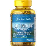 Sale Puritan S Pride Cod Liver Oil 1000 Mg 120 Softgels Item 007743 Puritan Wholesaler