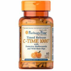 Compare Prices For Puritan S Pride Vitamin C 1000 Mg With Bioflavonoids Rose Hips 60 Capsules Timed Release
