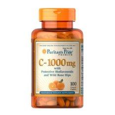 Buy Puritan S Pride Vitamin C 1000 Mg With Bioflavonoids And Rose Hips 100 Caplets Puritan Original
