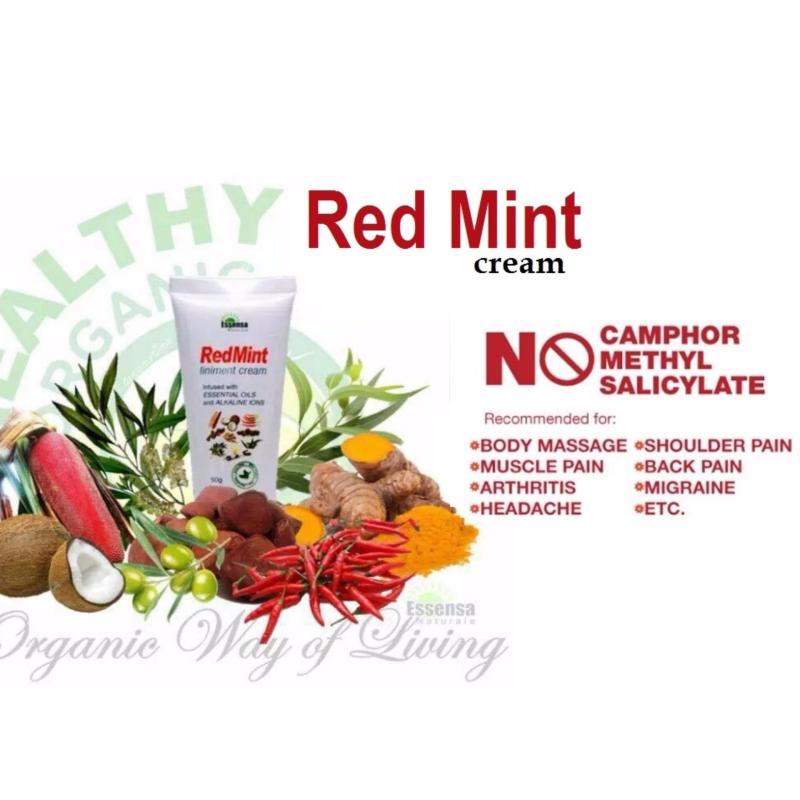 Buy RED MINT CREAM BODY PAIN RELIEVER ARTHRITIS BODY MASSAGE CREAM ESSENSA NATURALE Singapore