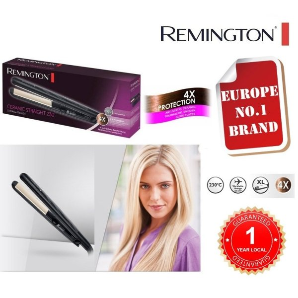 REMINGTON S3500 Hair Straightener with Anti Static Ceramic Tourmaline Plates and Temperature 150-230c [UNIVERSAL VOLTAGE][1 YEAR LOCAL GUARANTEE]