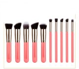 Buy Rorychen 5 Large 5 Small Women Makeup Brush Set Beauty Tools (Pink) Online