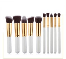 Coupon Rorychen 5 Large 5 Small Women Makeup Brush Set Beauty Brush Tools (Sliver)
