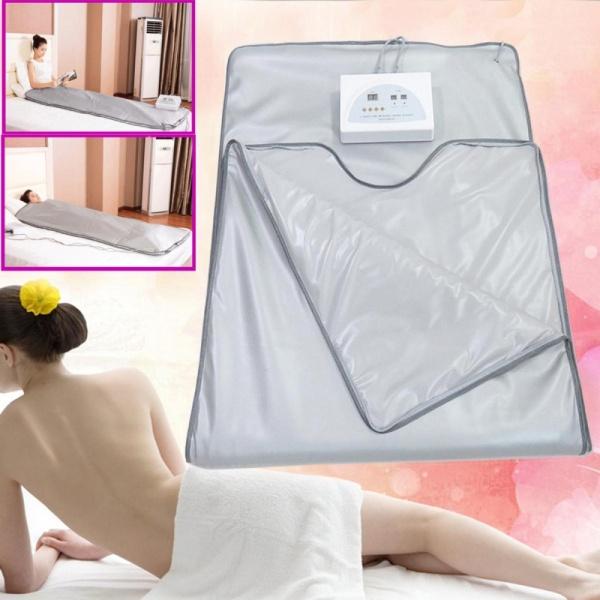 Buy Salon 2 Parts FIR Infrared Sauna Slimming Blanket Anti-ageing Fat Reduce Machine - intl Singapore