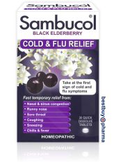 Great Deal Sambucol Black Elderberry Cold Flu Relief 30 Quick Dissolve Tablets