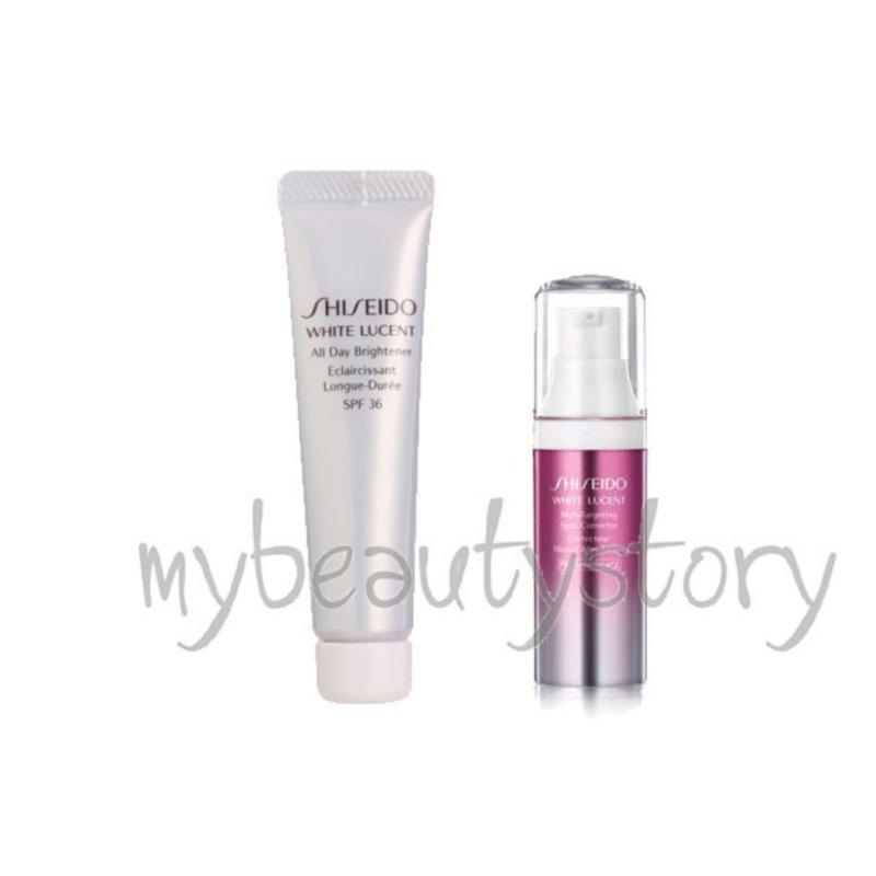 Buy Shiseido White Lucent All Day Brightener (Sunblock) SPF 36 10ml + Micro Targeting Spot Corrector 9ml Singapore