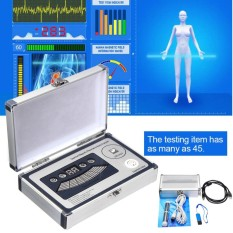 Sale Silver 2018 Family Quantum Magnetic Resonance Body Analyzer Multilingual Sub Health Intl Not Specified Cheap